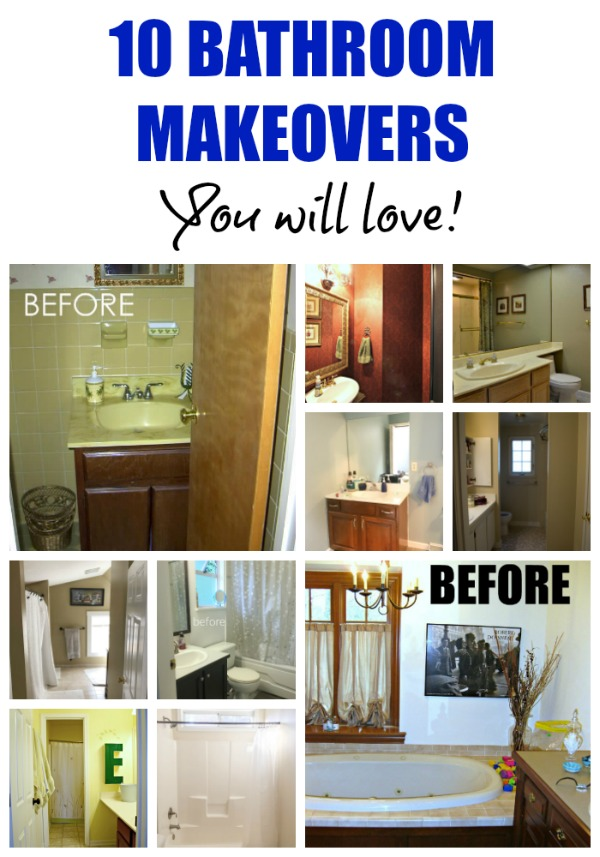 10 Bathroom Makeovers You'll Love