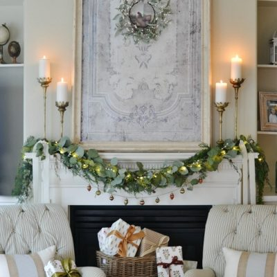 My French Country Christmas Mantel
