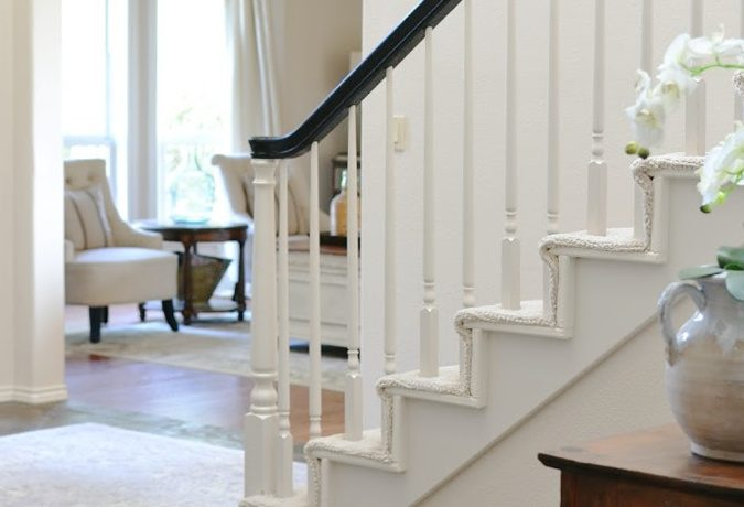 Painted Staircase Handrail Makeover