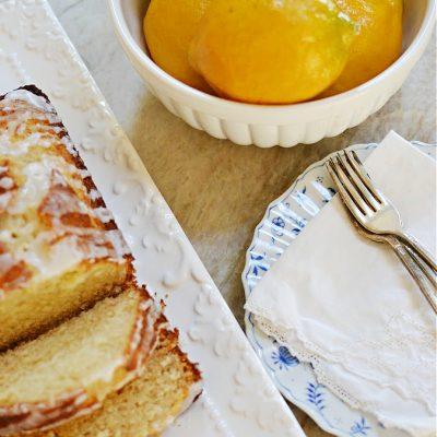 Honey Tea Cake Loaf with Lemon Glaze